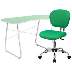 Flash Furniture Computer Desk and Swivel Chair in Green