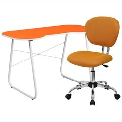 Flash Furniture Computer Desk and Swivel Chair in Orange