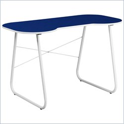 Flash Furniture Computer Desk in Navy and White