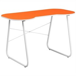 Flash Furniture Computer Desk in Orange and White