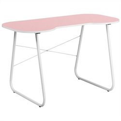 Flash Furniture Computer Desk in Pink and White