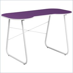 Flash Furniture Computer Desk in Purple and White