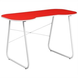 Flash Furniture Computer Desk in Red and White