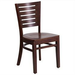 Flash Furniture Darby Series Restaurant Dining Chair in Walnut