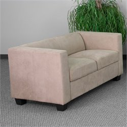 Flash Furniture Prestige Series Loveseat in Light Brown