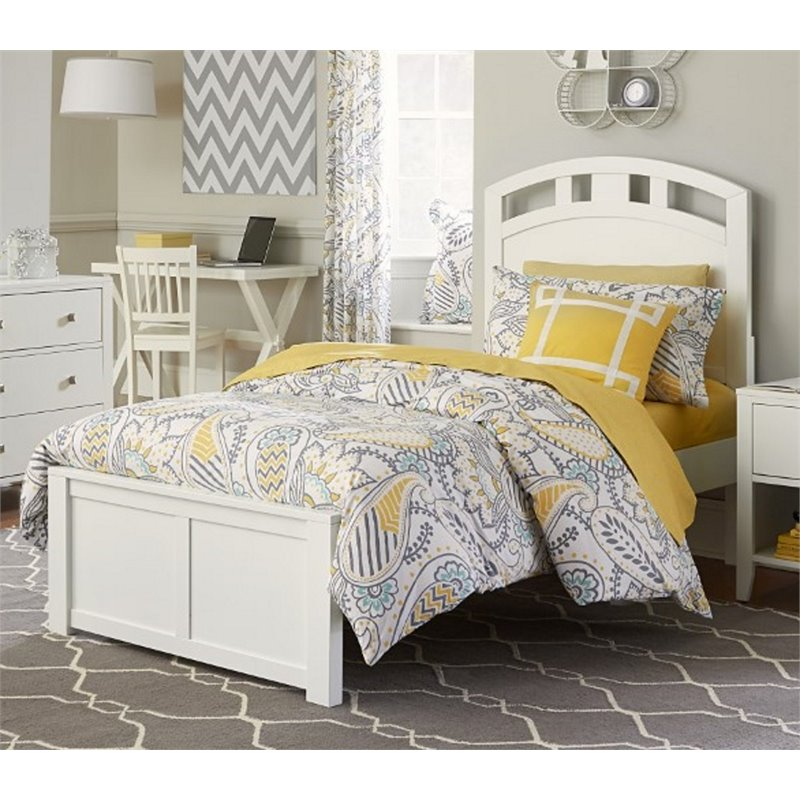 NE Kids Pulse Full Panel Bed in White