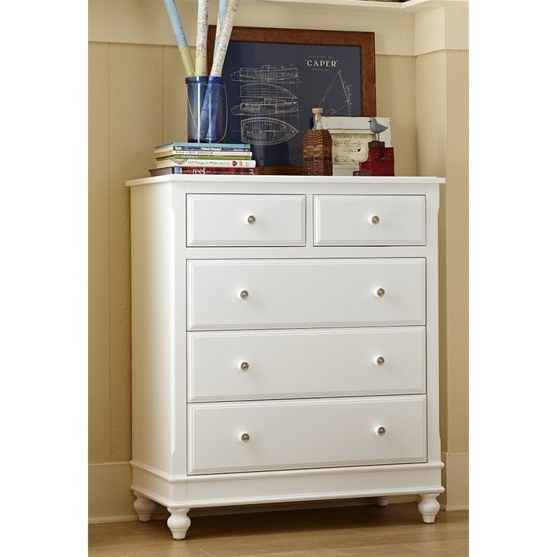 NE Kids Lake House 5 Drawer Chest in White