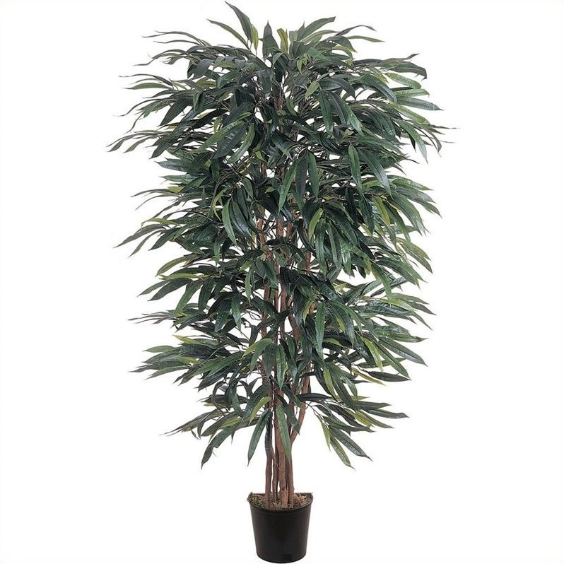 Nearly Natural 5' Weeping Ficus Silk Tree in Green 5018