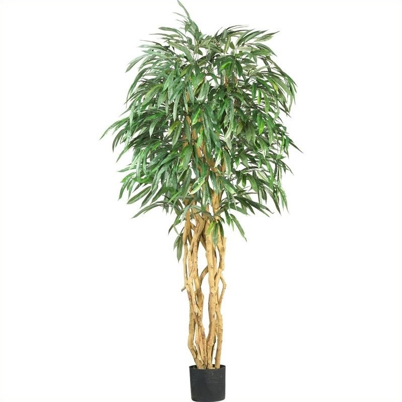 Nearly Natural 6' Weeping Ficus Silk Tree in Green 5213