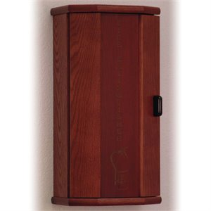 Wooden Mallet 10 lbs Engraved Fire Extinguisher Cabinet in Mahogany
