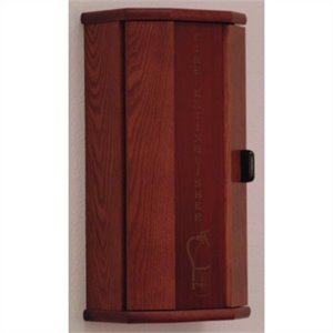 Wooden Mallet Fire Extinguisher Cabinet in Mahogany