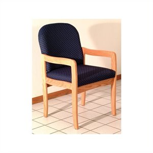 Wooden Mallet Dakota Wave Prairie Standard Leg Chair in L...