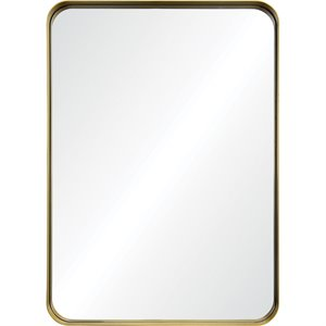 Renwil Barton Decorative Mirror in Brushed Antique Gold