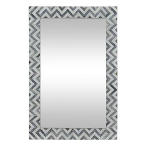 Renwil Abscissa Mirror in Grey and Ivory