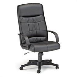 OFM Encore Leatherette High-Back Executive Office Chair in Black