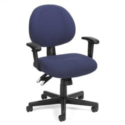 OFM 24-Hour Computer Task Office Chair with Arms in Blue