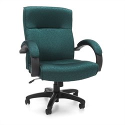 OFM Stature Series Executive Mid-Back Conference Office Chair in Teal