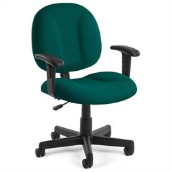 OFM SuperOffice Chair with Arms in Teal