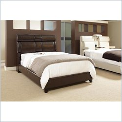 Samuel Lawrence Dreamsurfer Panel Upholstered Bed in Chocolate
