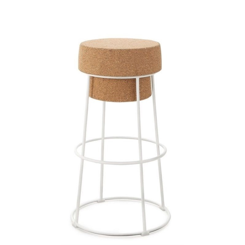 25.25 Counter Stool In White