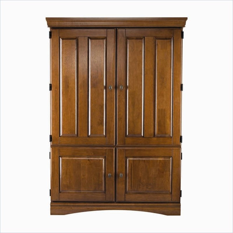 Solid Wood Tv Armoire ~ Homestar inch premium tv armoire in dark cognac solid
