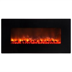 Yosemite 35'' Wall-Mount Electric Fireplace in Gloss Black