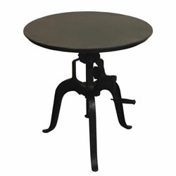 Yosemite Bistro Table in Distressed Aged Black