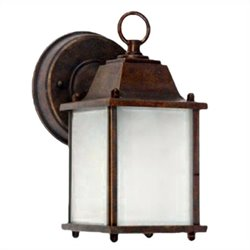 Yosemite Home Decor Tara 1 Light Exterior Lights Wall Mount in Brown