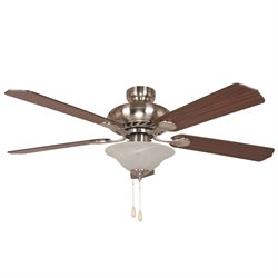 Yosemite 52 Inch Ceiling Fan in Satin Nickel Finish with 3 lights