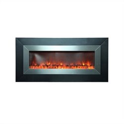 Yosemite Home 53inch Wall-mount Electric Fireplace in Stainless Steel