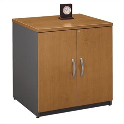 Bush Business Furniture Series C 30W Storage Cabinet in Natural Cherry