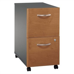 Bush Business Furniture Series C 2Dwr Mobile Pedestal Natural Cherry