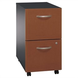 Bush Business Furniture Series C 2Dwr Mobile Pedestal in Auburn Maple