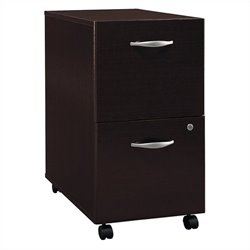 Bush BBF Series C 2Dwr Mobile Pedestal in Mocha Cherry