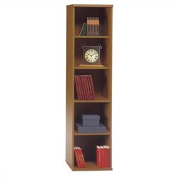 Bush Business Series C 18W 5-Shelf Bookcase in Natural Cherry