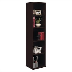 Bush Business Furniture Series C 18W 5-Shelf Bookcase in Mocha Cherry