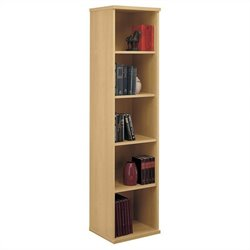 Bush Business Series C 18W 5-Shelf Bookcase in Light Oak