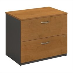 Bush Business Furniture Series C 36W 2Dwr Lateral File Natural Cherry