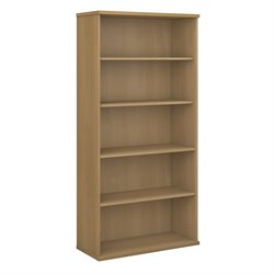 Bush BBF Series C 36W 5-Shelf Bookcase in Light Oak