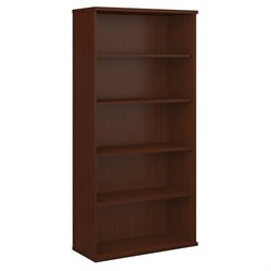 Bush Business Furniture Series C 36W 5-Shelf Bookcase in Mahogany