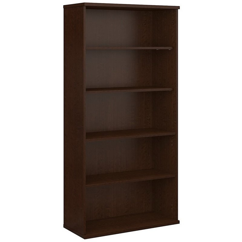 Bush BBF Series C 36W 5-Shelf Bookcase in Mocha Cherry