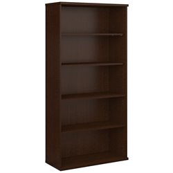 Bush Business Furniture Series C 36W 5-Shelf Bookcase in Mocha Cherry