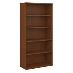 Bush BBF Series C 36W 5-Shelf Bookcase in Auburn Maple