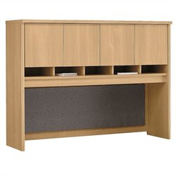 Bush Business Furniture Series C 60W Hutch in Light Oak