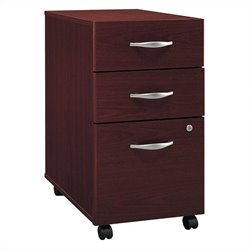 Bush Business Furniture Series C 3Dwr Mobile Pedestal in Mahogany