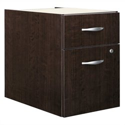 Bush BBF Series C 2 Drawer 3/4 Pedestal in Mocha Cherry