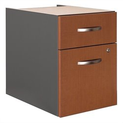 Bush Business Furniture Series C 2 Drawer 3/4 Pedestal in Auburn Maple