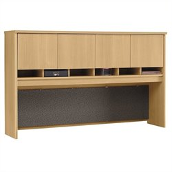 Bush Business Furniture Series C 72W Hutch (4 Door) in Light Oak