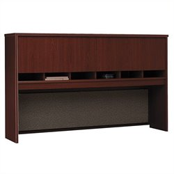 Bush Business Furniture Series C 72W Hutch (4 Door) in Mahogany