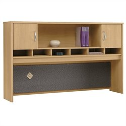 Bush Business Series C 72W Hutch (2 Door) in Light Oak